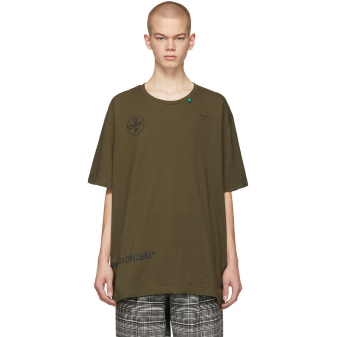 Photo: Off-White Green Stencil Over T-Shirt
