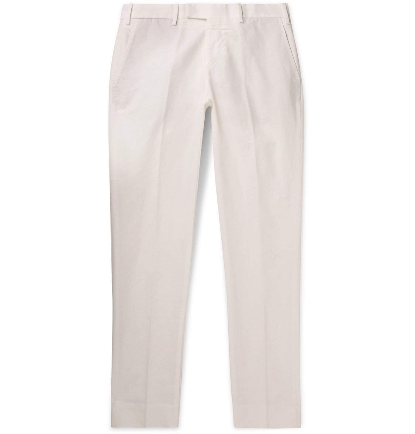 Photo: SALLE PRIVÉE - Gehry Slim-Fit Cotton and Linen-Blend Chinos - White
