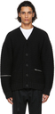 Sacai Black Wool Knit Cardigan