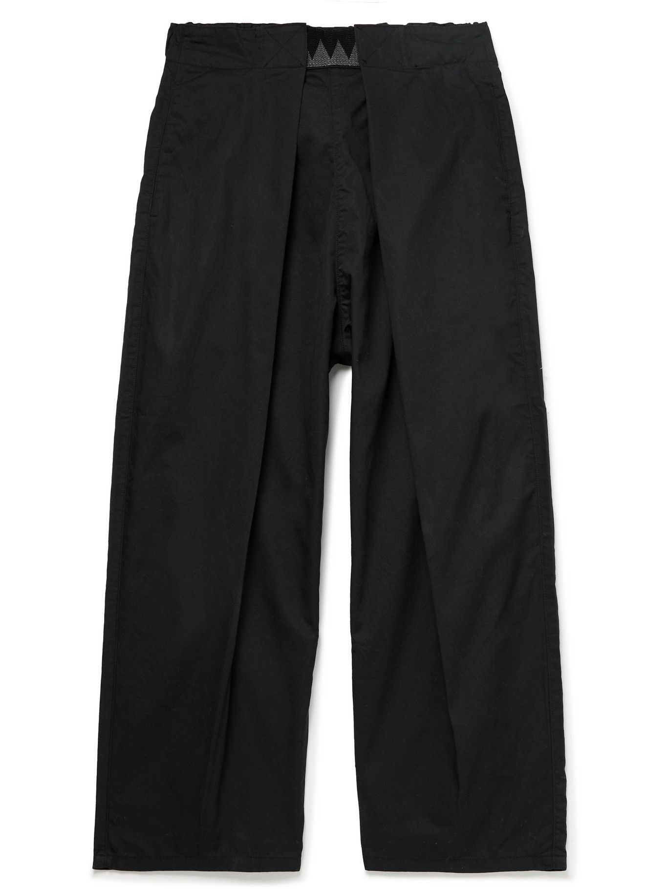 KAPITAL - Tapered Cropped Printed Cotton Trousers - Unknown