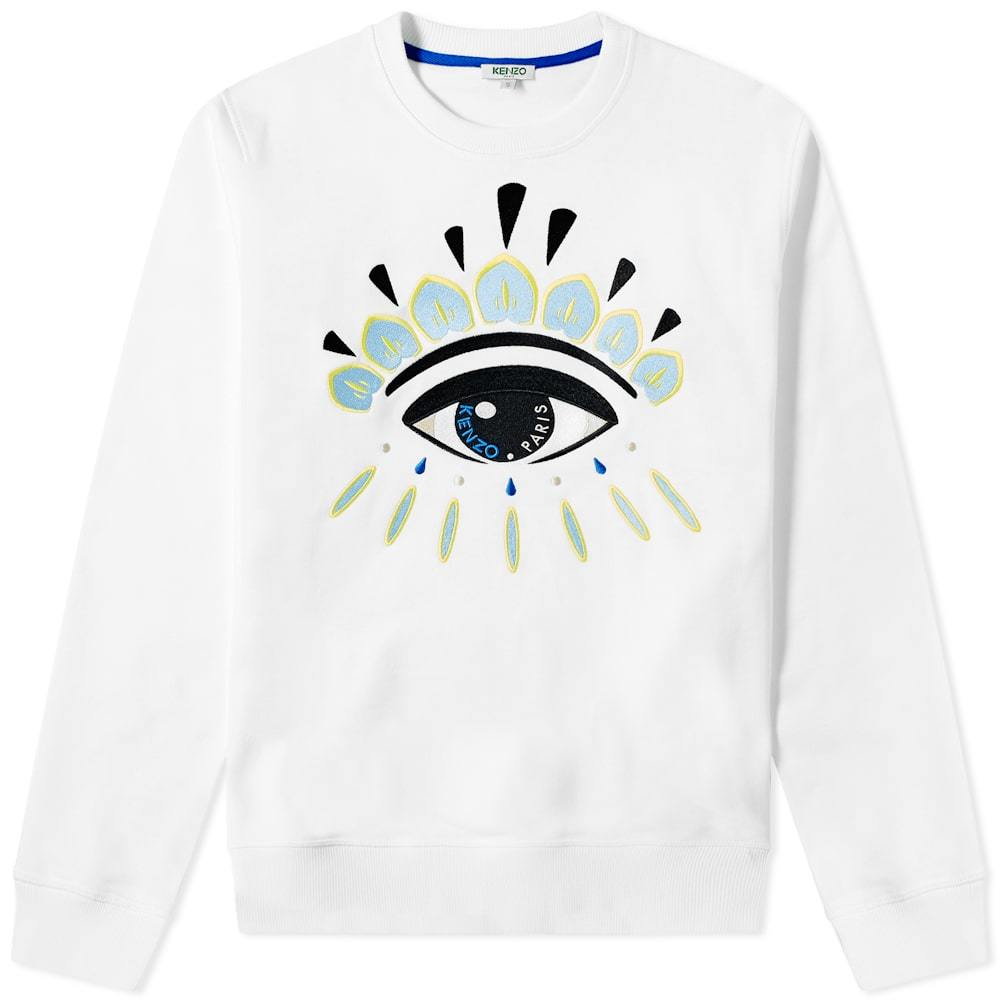 Photo: Kenzo Embroidered Eye Crew Sweat White