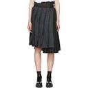 Sacai Navy and Black Glen Check Skirt