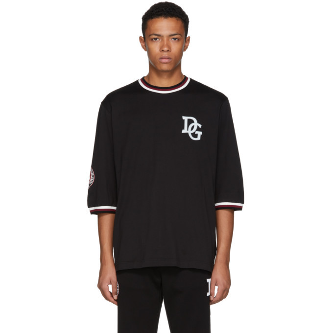 Photo: Dolce and Gabbana Black Logo T-Shirt