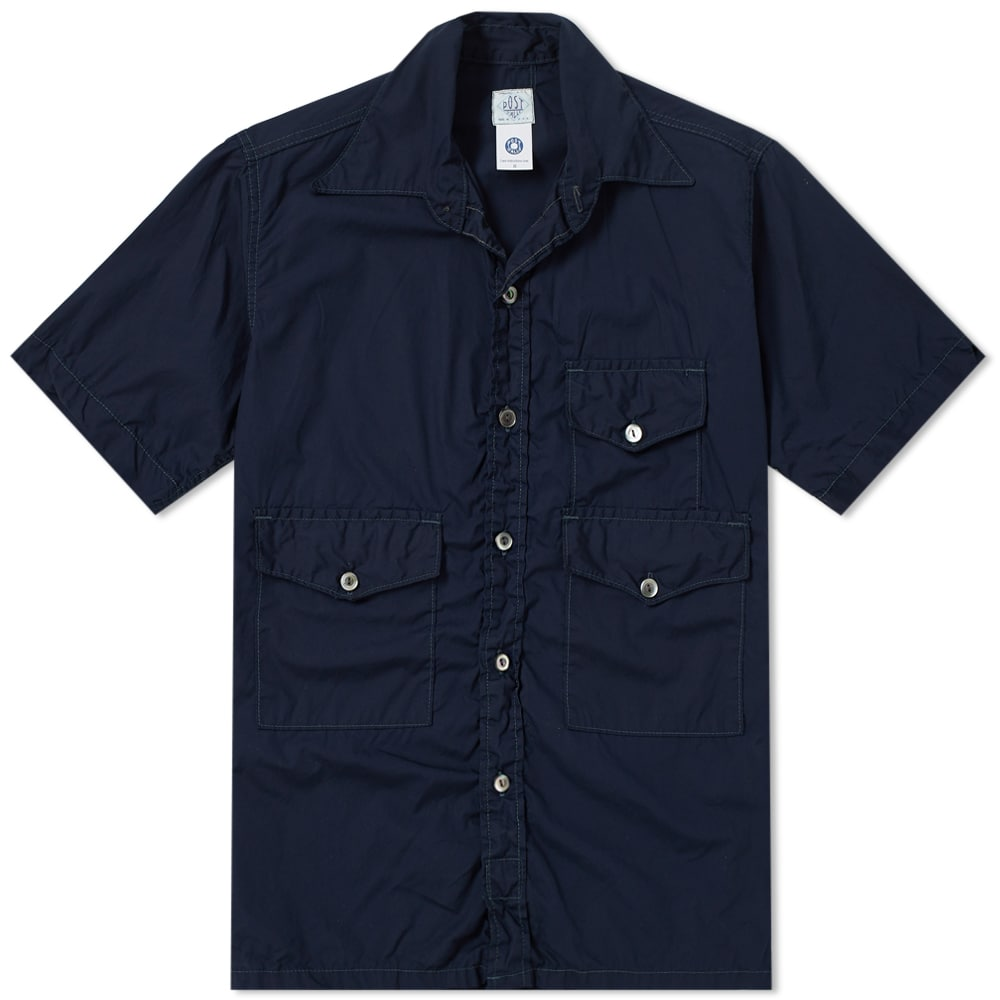 Photo: Post Overalls Short Sleeve Town & Country Contrast Stitch Shirt