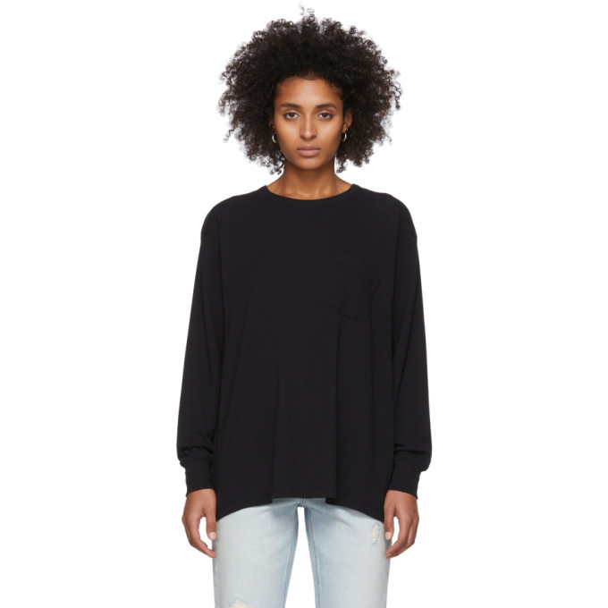 Photo: alexanderwang.t Black Tilted Pocket Long Sleeve T-Shirt