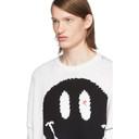 Raf Simons White Wool Smiley Sweater