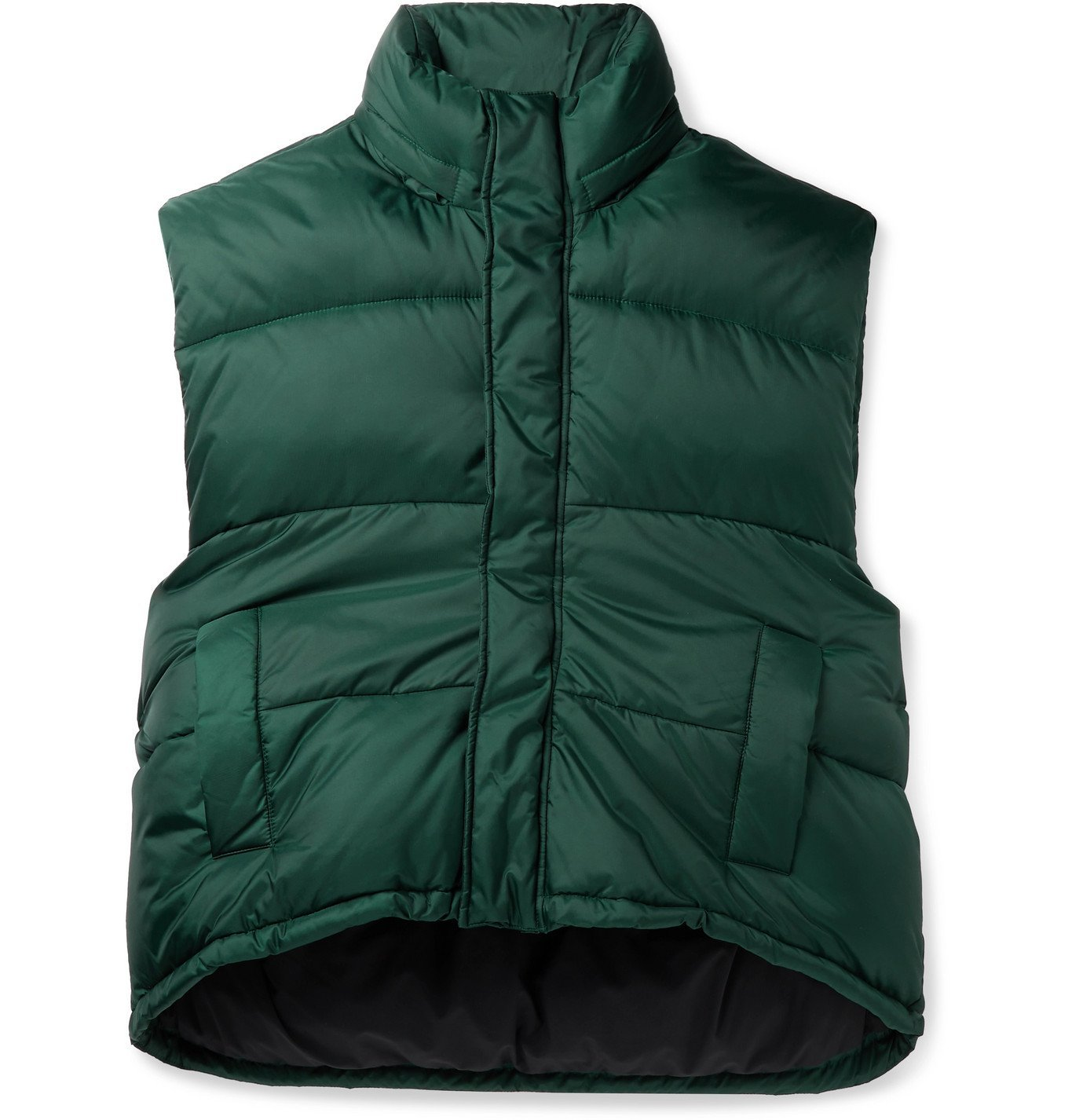 Photo: Balenciaga - Quilted Padded Hooded Shell Gilet - Green