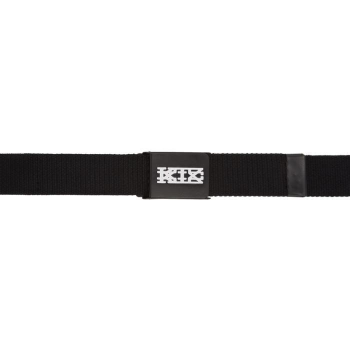 Photo: KTZ Black and White Metal Plates Belt