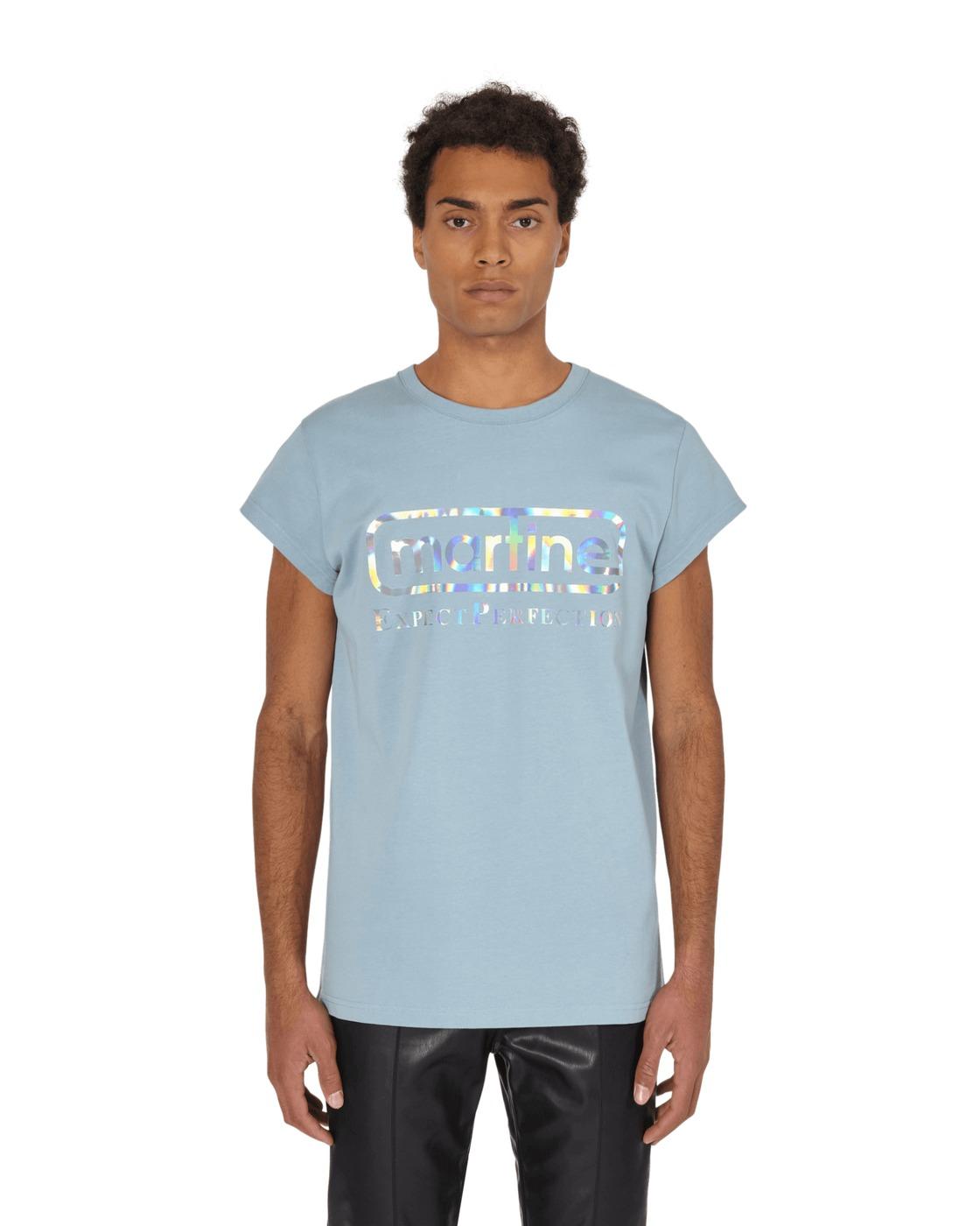 Martine Rose Cap Sleeve Perfection T Shirt Blue