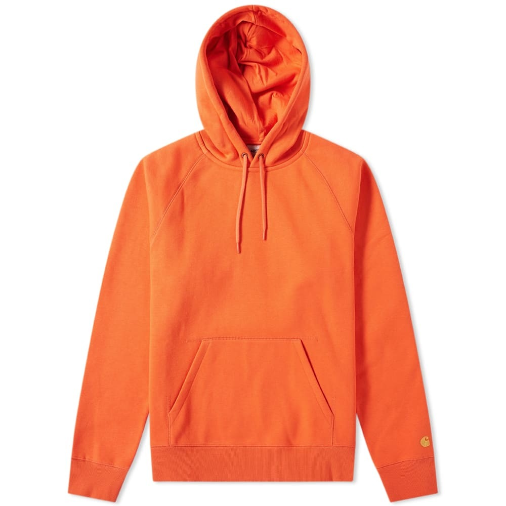 Photo: Carhartt Hooded Chase Sweat Pepper & Gold