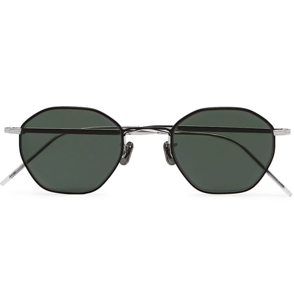 Photo: Eyevan 7285 - Octagonal-Frame Gunmetal and Silver-Tone Sunglasses - Gray