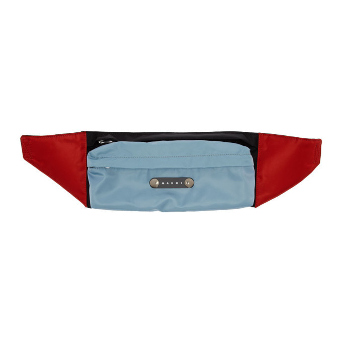 Photo: Marni Blue and Black Colorblock Belt Bag
