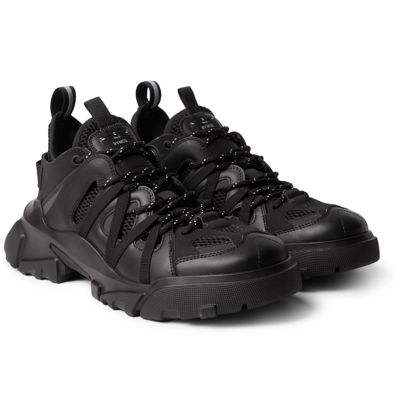 MCQ - Orbyt Descender 2.0 Mesh and Faux Leather Sneakers - Black