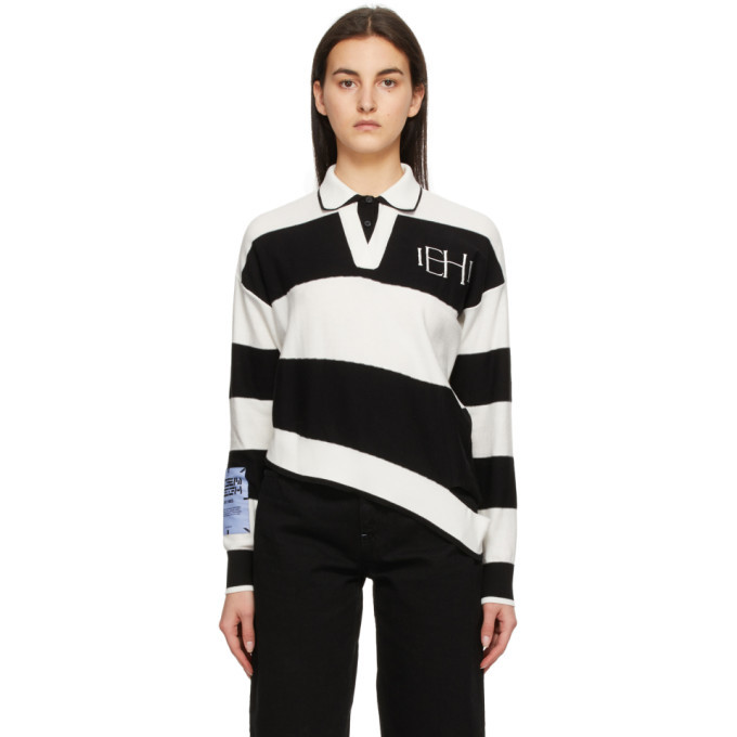 MCQ White and Black Distorted Polo