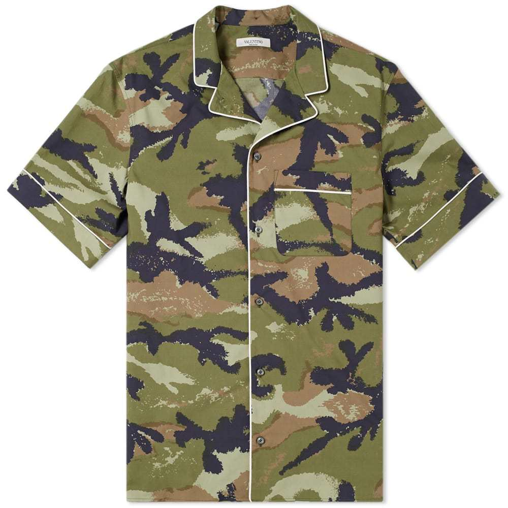 Photo: Valentino Art Vacation Shirt Army Camo