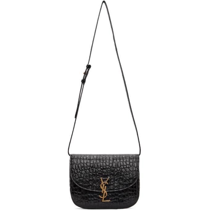 Photo: Saint Laurent Black Croc Medium Kaia Bag