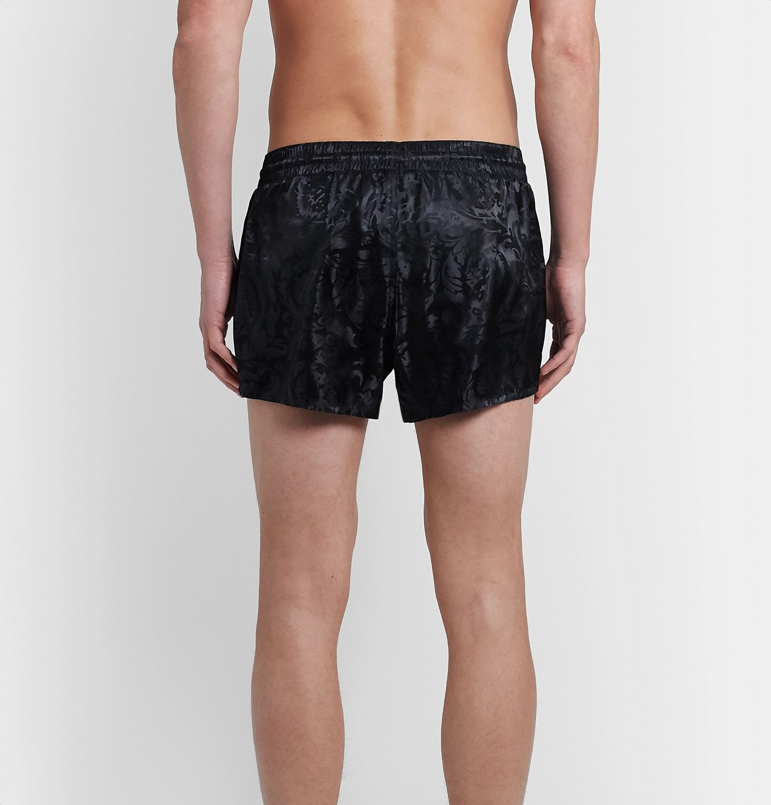 Versace - Short-Length Jacquard Swim Shorts - Black