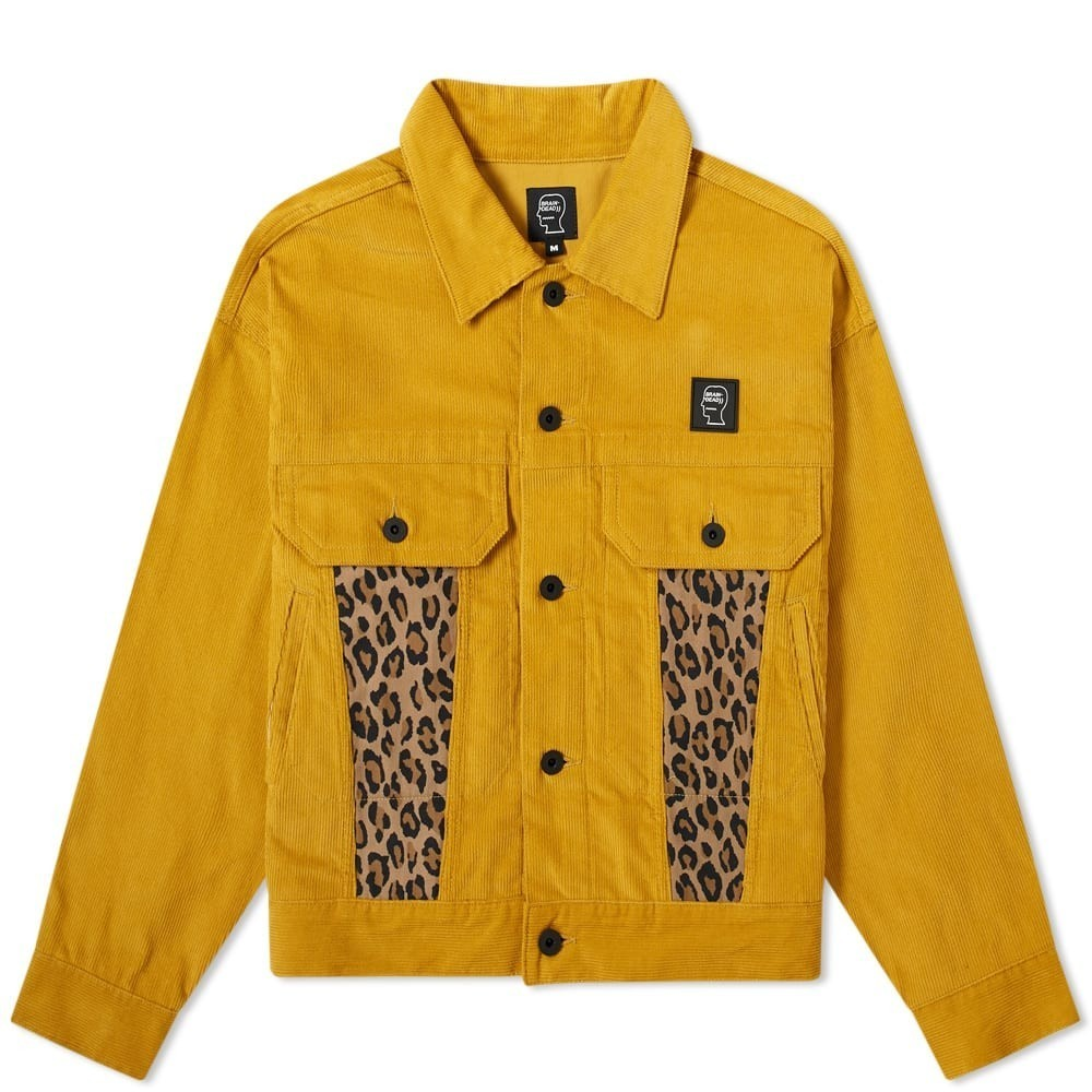 Photo: Brain Dead Corduroy Leopard Contrast Trucker Jacket
