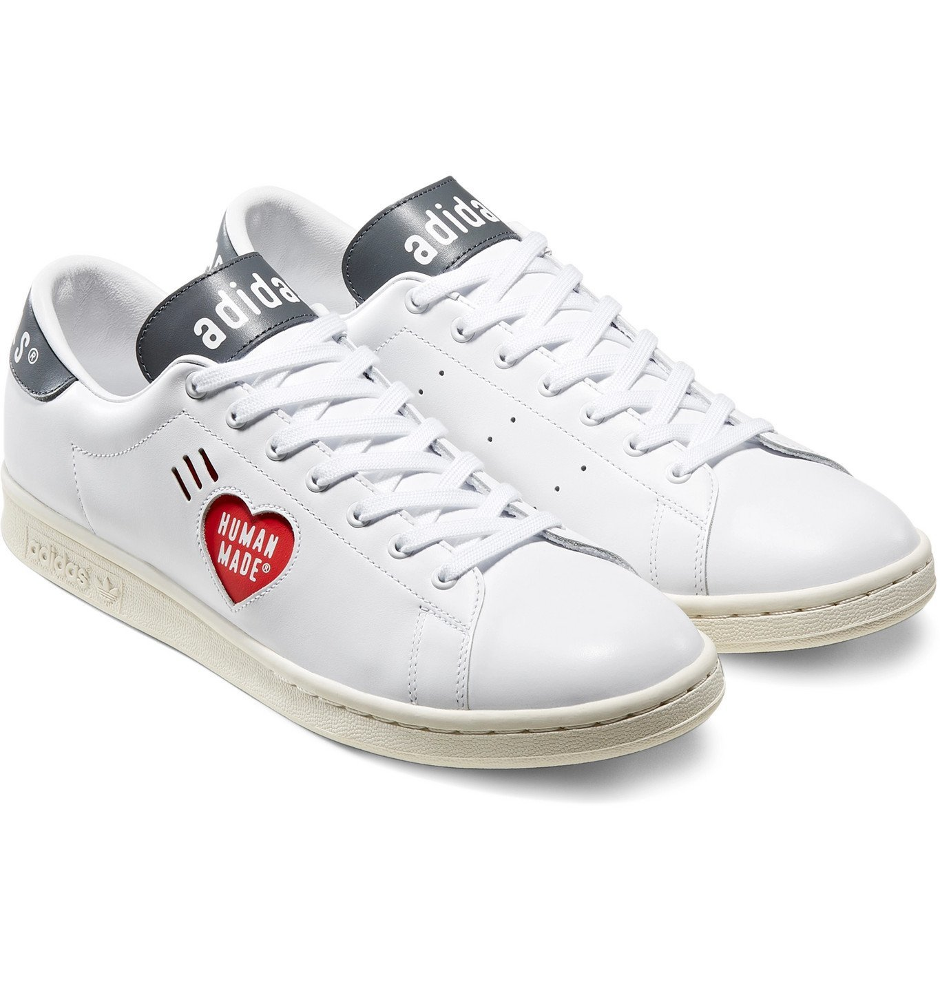 Photo: adidas Consortium - Human Made Stan Smith Logo-Print Leather Sneakers - White