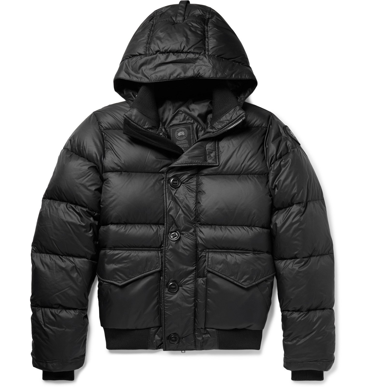 Photo: Canada Goose - Ventoux Quilted Nylon Hooded Down Jacket - Black