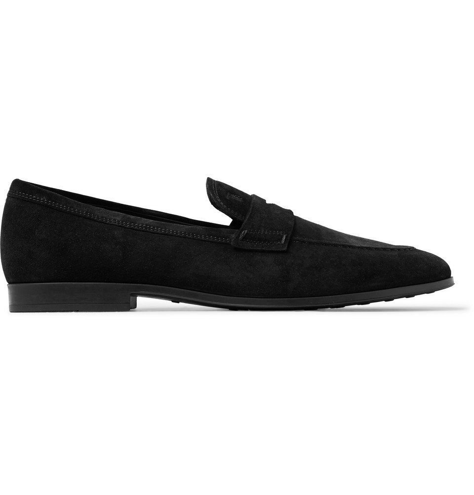 Tod's - Suede Penny Loafers - Black