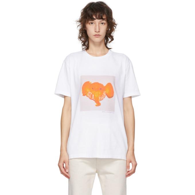 Stella McCartney White Tangerine Elephant T-Shirt