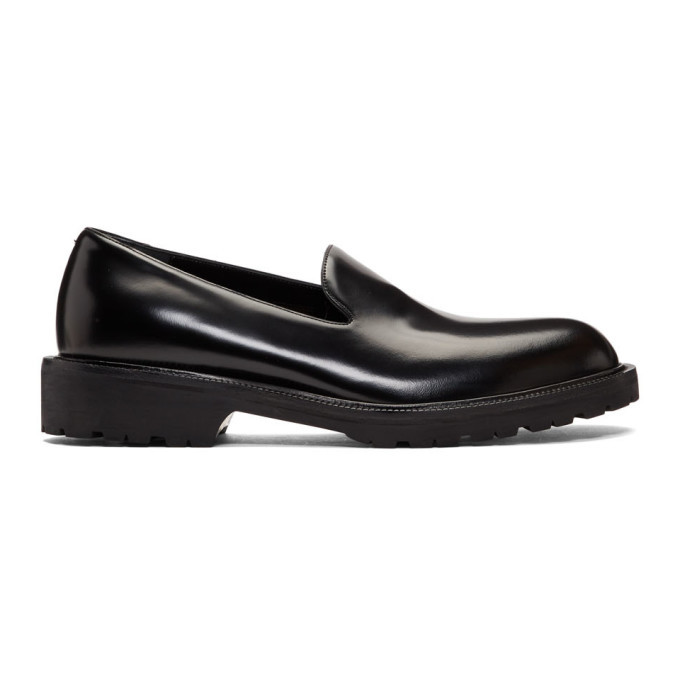 Photo: Dries Van Noten Black Leather Loafers