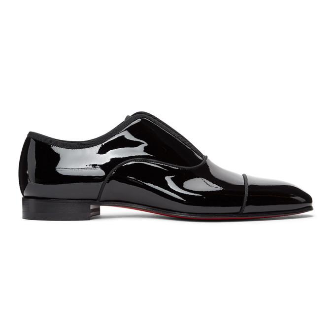 Photo: Christian Louboutin Black Patent Alpha Male Loafers