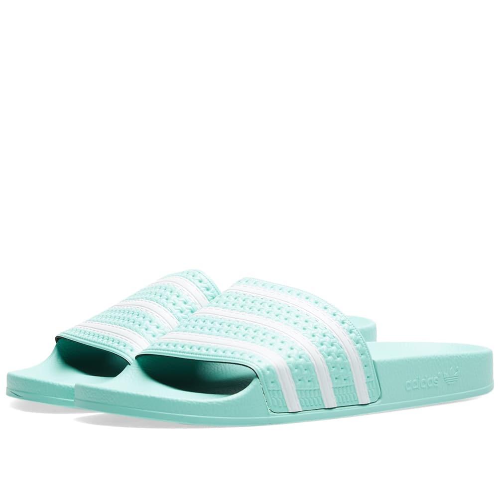 Photo: Adidas Adilette W Clear Mint & White