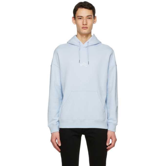 Photo: Givenchy Blue Embroidered Refracted Hoodie