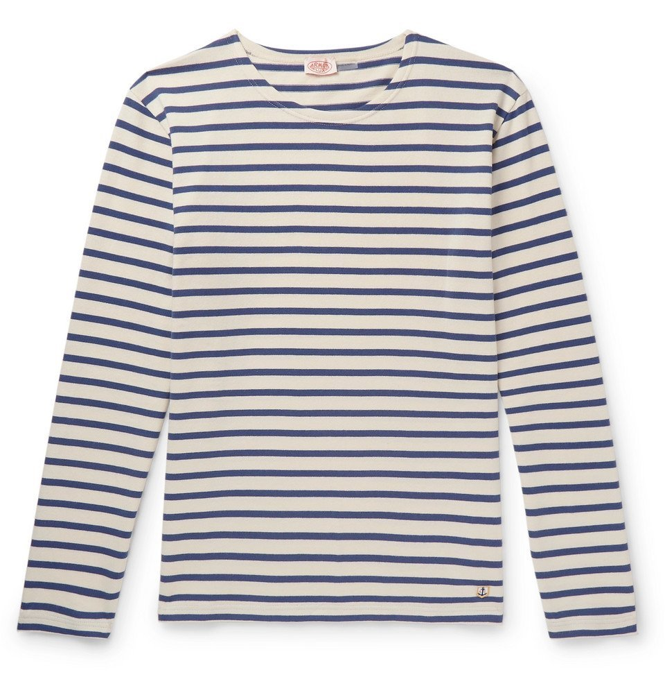 Photo: Armor Lux - Striped Cotton-Jersey T-Shirt - Cream