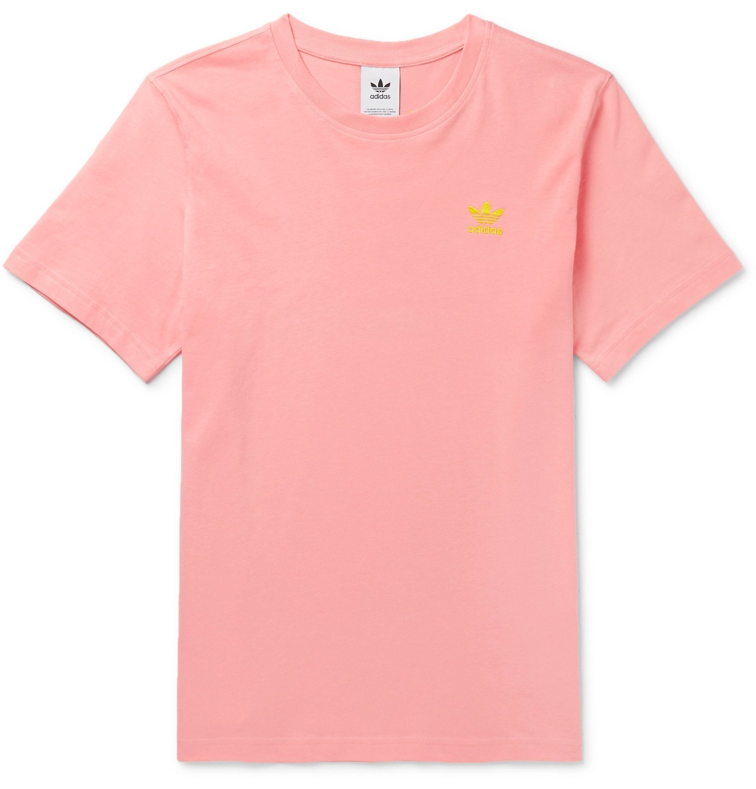 adidas Originals - Logo-Print Cotton-Jersey T-Shirt - Pink