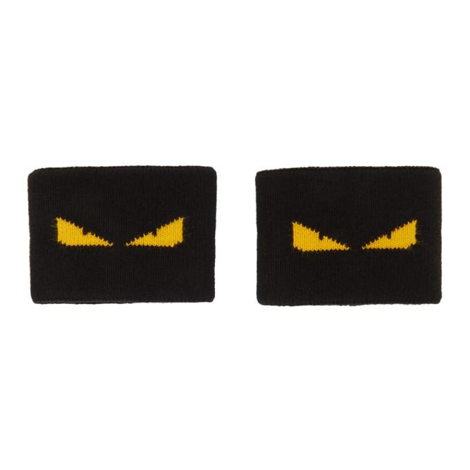 Photo: Fendi Black Bag Bugs Wristbands