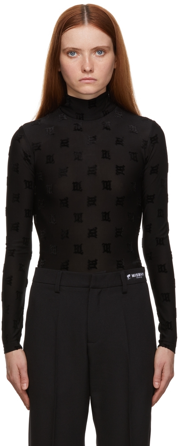 Photo: MISBHV Black Monogram Night Bodysuit