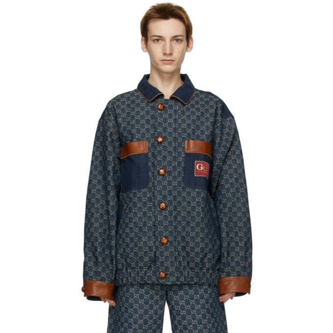 Photo: Gucci Navy Denim GG Jacket