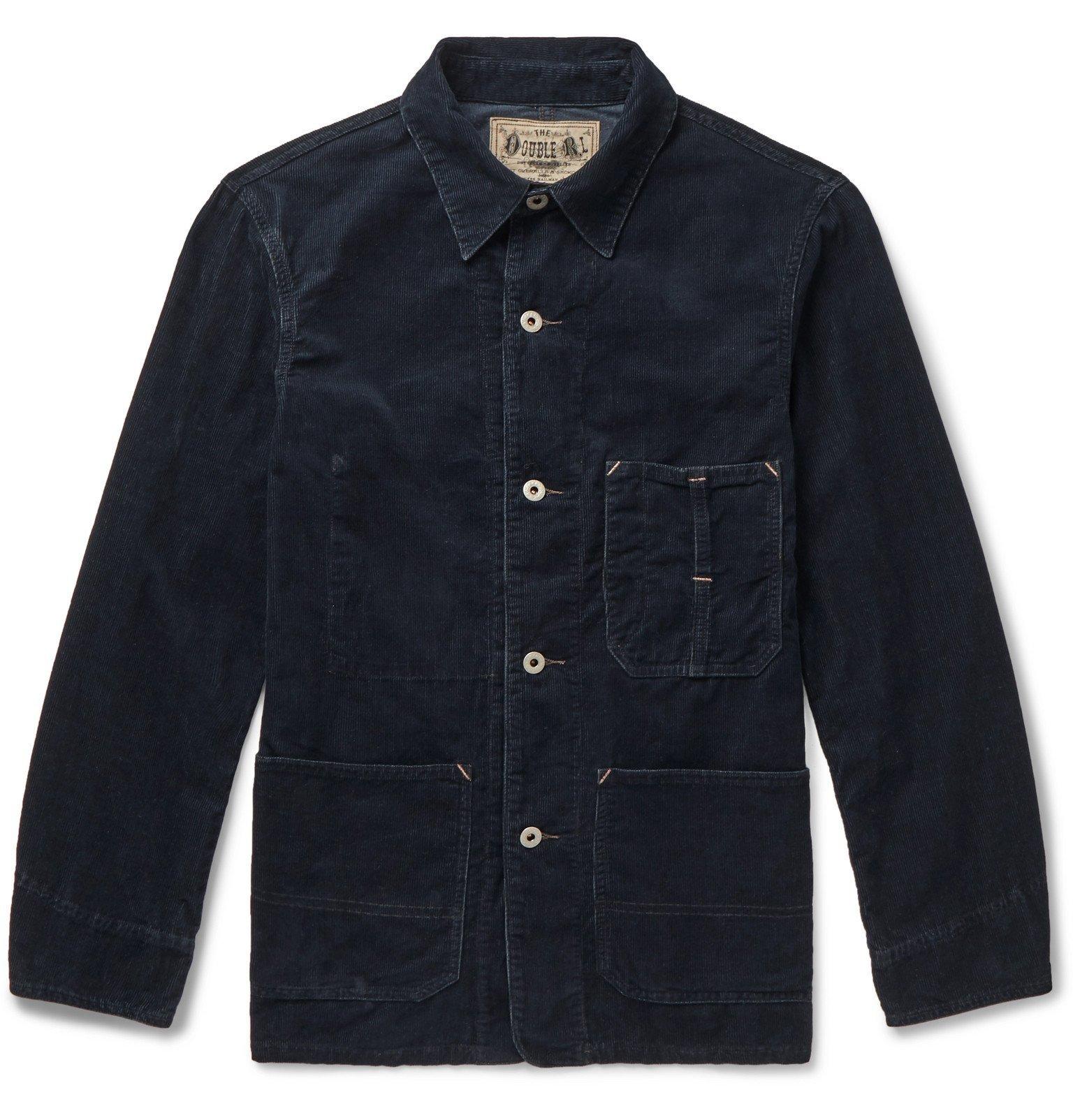 RRL - Williams Cotton-Blend Corduroy Chore Jacket - Blue