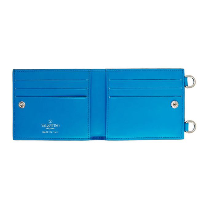 Valentino Blue Valentino Garavani VLTN Neck Wallet