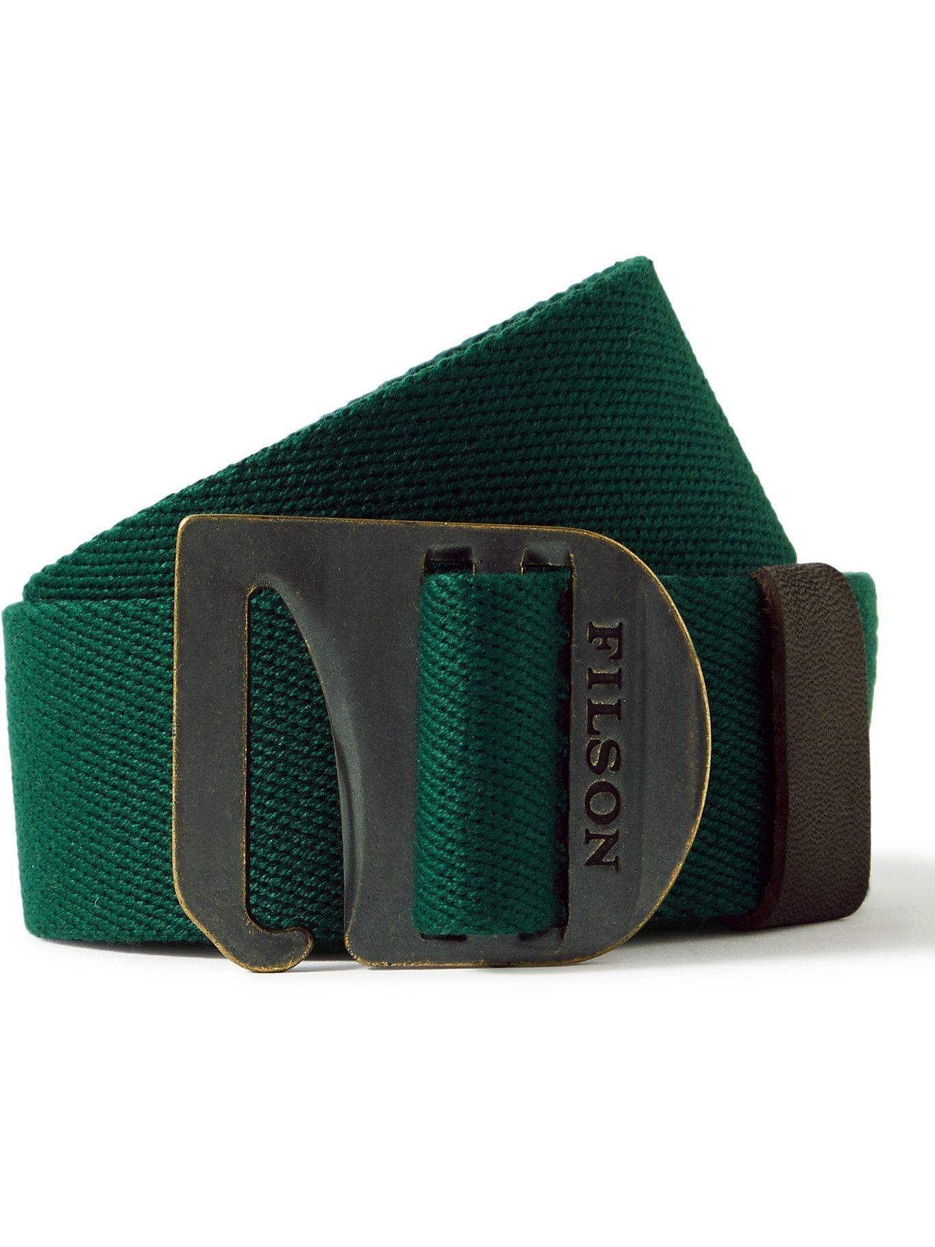 FILSON - Togiak 4cm Leather-Trimmed Webbing Belt