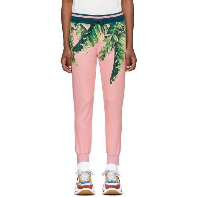 Photo: Dolce and Gabbana Pink Floral Lounge Pants