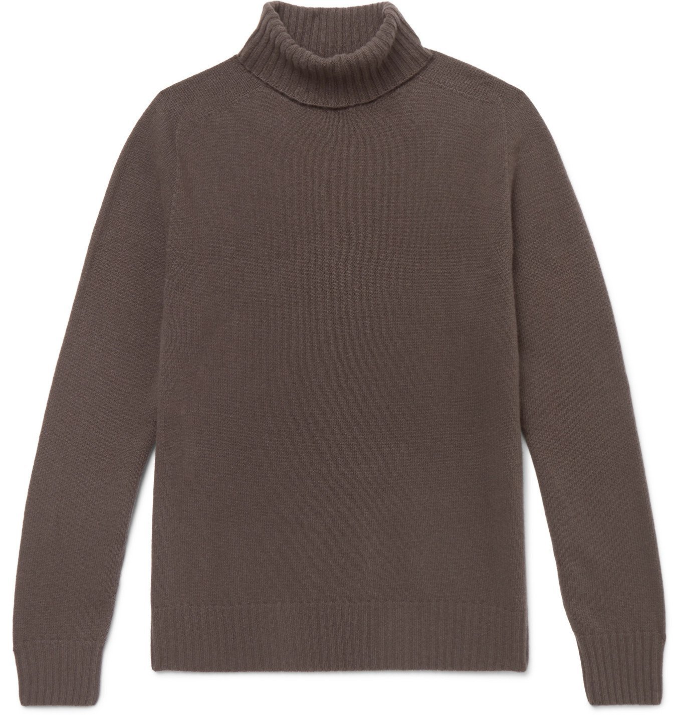 Photo: Officine Générale - Merino Wool and Cashmere-Blend Rollneck Sweater - Brown