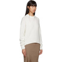 3.1 Phillip Lim Off-White Inset Shoulder High Low Sweater
