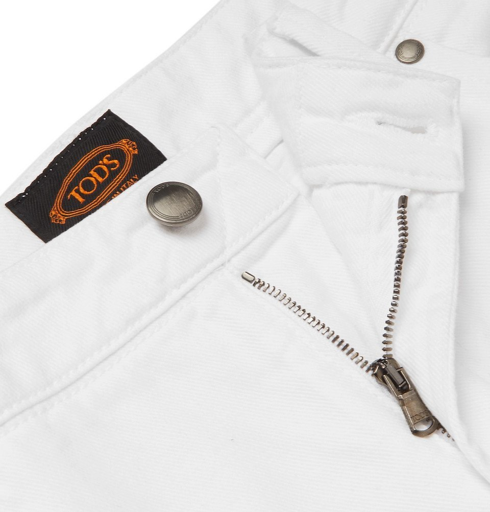 Tod's - Slim-Fit Denim Jeans - Off-white