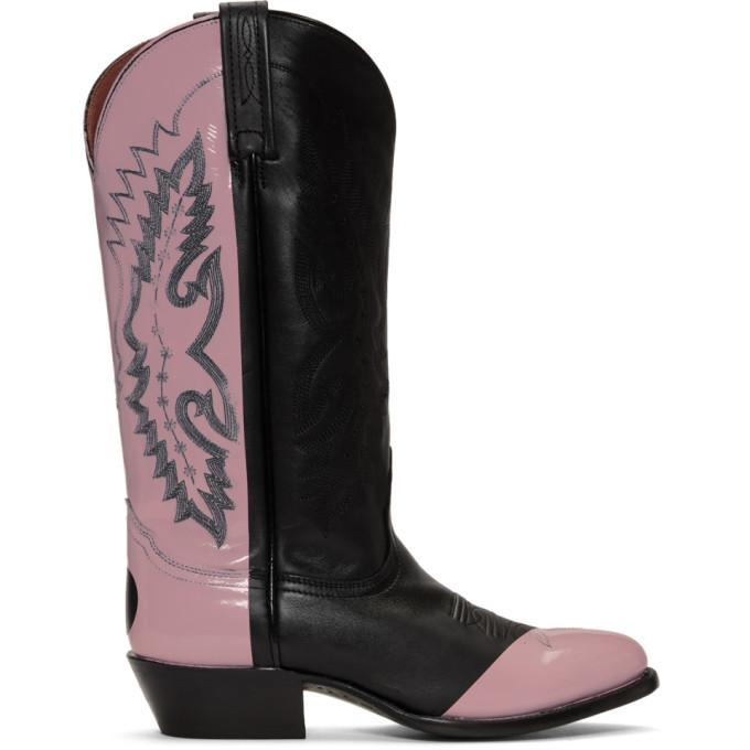 Photo: Helmut Lang Black and Pink Sarah Morris Edition Cowboy Boots