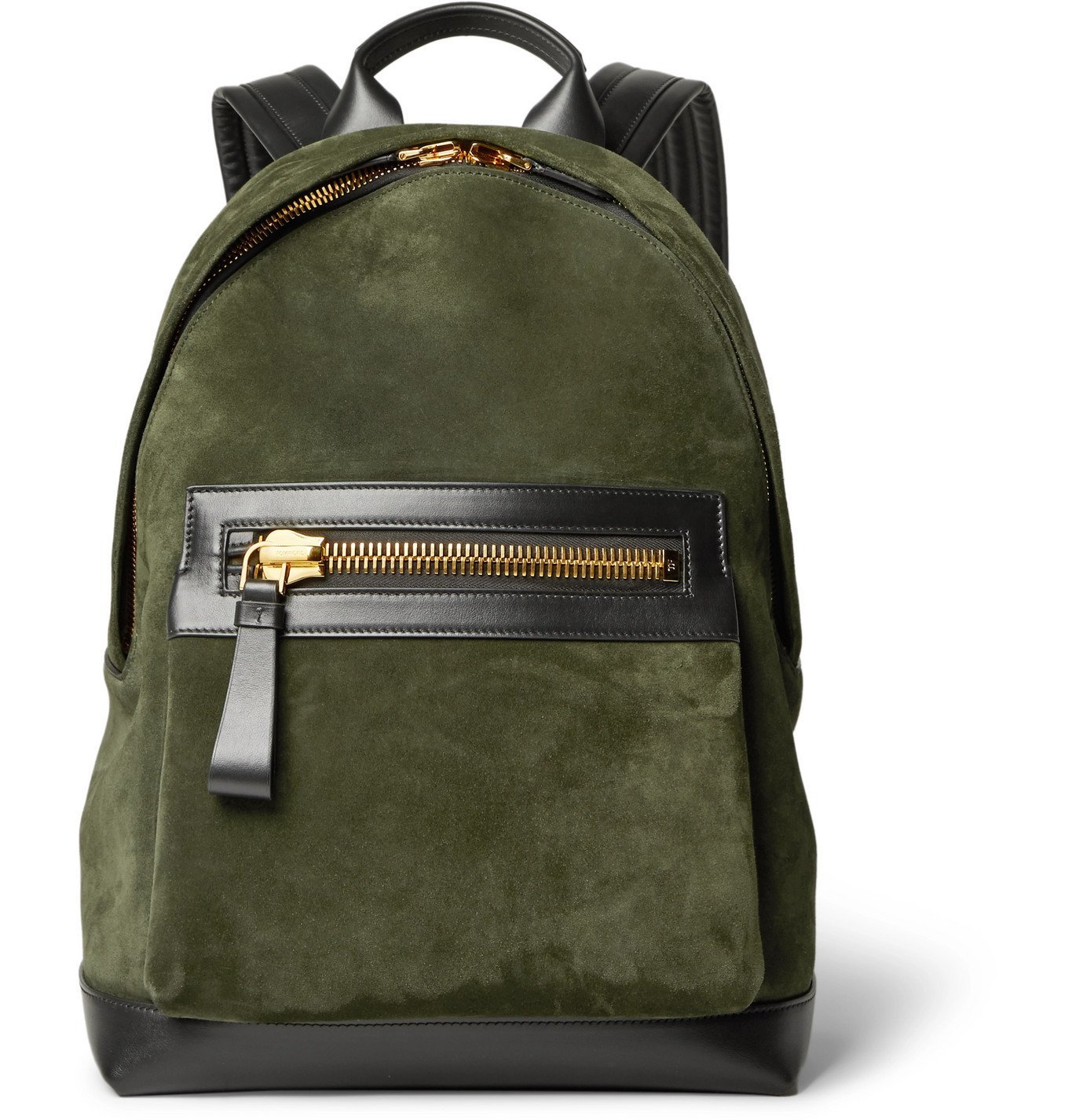 Photo: TOM FORD - Suede and Leather Backpack - Green