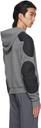 GmbH Grey & Black Paneled Faruk Hoodie