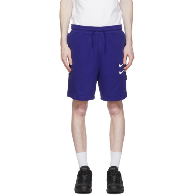 Photo: Nike Navy Sportswear Swoosh Shorts