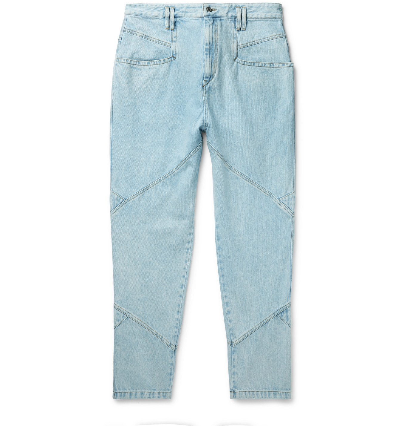 Photo: ISABEL MARANT - Jowland Tapered Panelled Denim Jeans - Blue