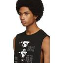 Raf Simons Black Toya Sleeveless T-Shirt