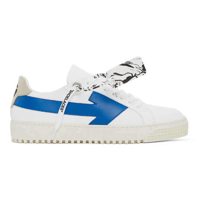 Photo: Off-White White and Blue Arrows Sneakers