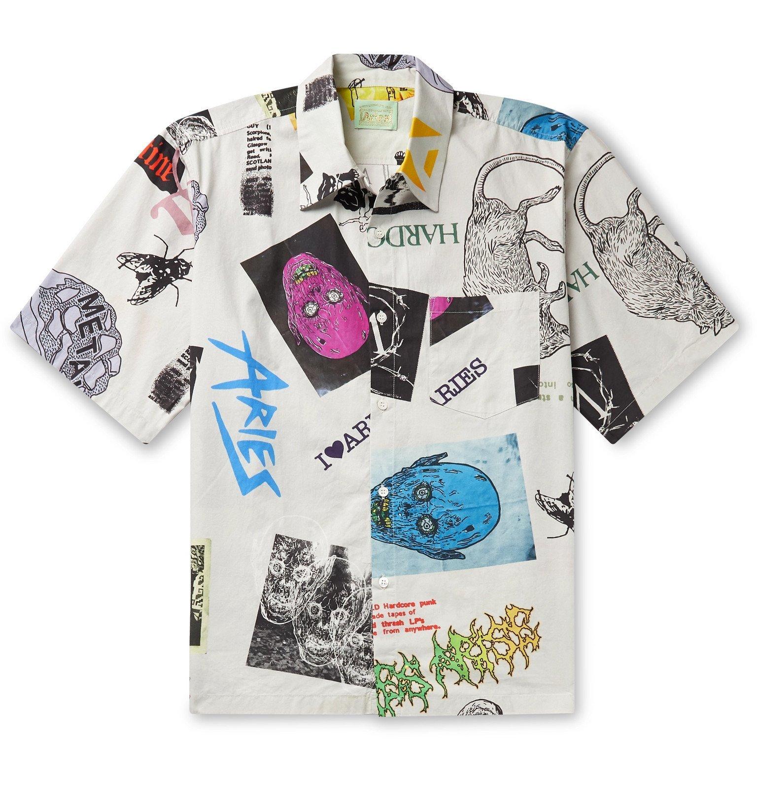Aries - Thrasher Printed Cotton-Ripstop Shirt - White
